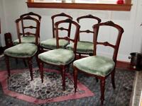 ANTIQUE CHAIRS WALNUT 1850's english  *obo