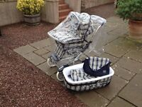 Mamas and Papas Classic Silver Cross Pushchair and Cot