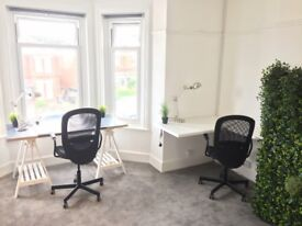 Co-working, desk space hot desk Charminster Bournemouth Central location 24/7 access, Wi-Fi, parking