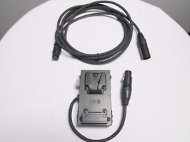 IDX C-EB(XLR) V-Mount Battery Bracket and extension cable