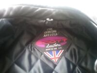 Genuine Scott leather motorbike jacket.