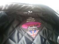 Genuine Scott leather motorbike jacket.