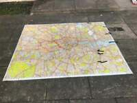 Xl laminated knowledge map of London