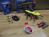 Playmobil submarine & dingy boat with diver