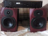 !!!!!BARGAIN!!!!2 TANNOY REVEAL SPEAKERS WITH SAMSON SERVO-170 STUDIO AMPLIFIER !!!!!!