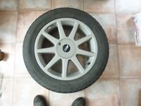 """rav4 alloy wheels 17""""with tyres in great condition"""