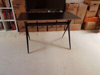 Sleek Black Ikea Table - Perfect Desk or Living Room