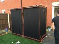 Grow tent BAY6 XXL COMPLETE KIT with 600w lights, filter and ballasts
