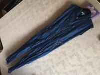 WOMENS H&M BLUE SKINNY BIB OVERALLS DENIM DUNGAREES Size 34 used £8
