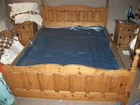 Modern pine bedroom suite with waterbed