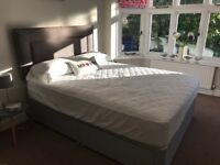 Kingsize bed with mattress and headboard not used as guest room only