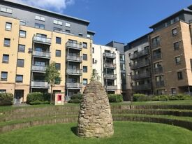 FURNISHED ROOM with ENSUITE in TWO-BED FLAT, in modern development NEAR EASTER ROAD