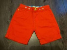 Little bird orange short 4-5 yo