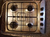Fully working 4 burner hob Indesit. Stainless steel. Delivery available for extra £10.