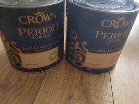 Crown period colours dead flat matt emulsion inperial gold.