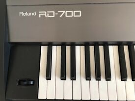 Roland RD700 Digital Piano / Synth owned from new, with custom-made case, dust cover, pedal