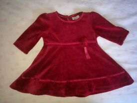 Red monsoon dress 0-3 months