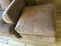 Large corner suite and footstool