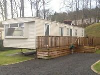 2003 Cosalt Torbay Super 36x12 2 bedrooms with large wooden decking static caravan for sale