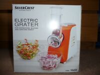 Electric Grater - Silvercrest, BRAND NEW!!