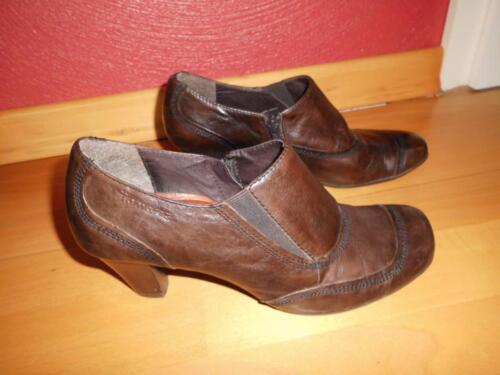 Tamaris Leder Stiefeletten Gr.37 Slipper Anti Shock Mocca Stiefel in Illingen