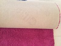 """Pink Supreme Hessian Backed Carpet 13'5"""" x 8'2"""" - Excellent Condition"""