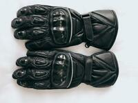 Lady's leather motorbike / motorcycle gloves