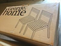 Brand new boxed garden table and 6 chairs.