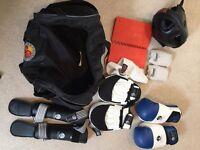 Martial Arts bag and items