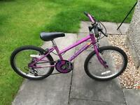 """Purple Raleigh bicycle 18"""" (I think!)"""