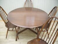 Stunning Ercol Table and 4 Quaker Chairs