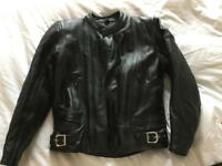 Frank Thomas 2pc motorbike leathers- jacket and trousers-cost £300 NEW