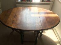 Solid Oak Folding Dining Table