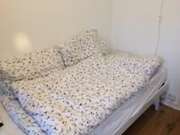 Bedding including duvet, pillows with bed linen