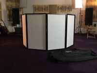DJ Booth by Gorilla Stands with carry case.