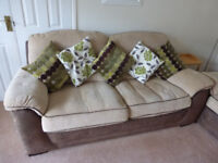 Sofa - 2 Seater and 2 Armchairs Suite Set.