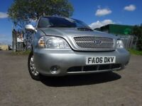 06 KIA SEDONA LX 2.9 DIESEL 7 SEATER,MOT APRIL 019,2 OWNERS FROM NEW,2 KEYS,PART HISTORY,LOW MILEAGE