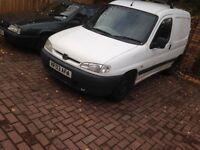 Peugeot partner van for sale just needs m.o.t drives nice cheap van may px car van motorbike