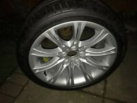 BMW e60 genuine 18 inch alloy and run flat tyre