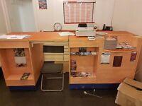 **NEW PRICE** Shop Furniture (Slat Walls, Counter, Cash Register and Leaflet Display Unit)