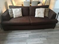 SCS Brown Fabric Sofa Set for sale!!! 3/4 seater and single seater £100 Ono.