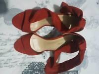 Bn rust colour ladys shoes size 4