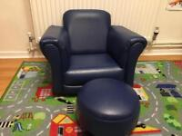 Kids chair and footstool
