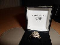 ladies 9ct diamond ring