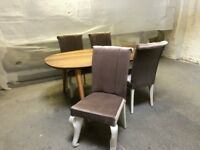 Brand New Handmade Dining Table & Chair *SHOWROOM STOCK CLEARANCE* FREE DELIVERY
