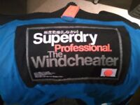 Men's Superdry Professional Windcheater in Blue -- Small