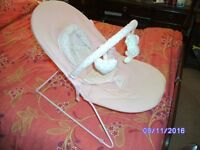 Pale Pink Vibrating Bouncer chair