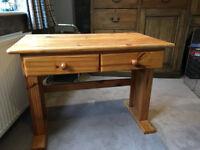 Pine desk. 22'' x 36'' ( 56cm x 92cm ) adjustable height, suit children's bedroom.