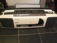 SONY CDL-66L CASSETTE CD PLAYER RECORDER RADIO WITH LEAD IN GOOD CLEAN WORKIG CONDITION