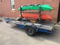 Kayak/Canoe/Bike Alko Braked Trailer with lock and wheel lock.
